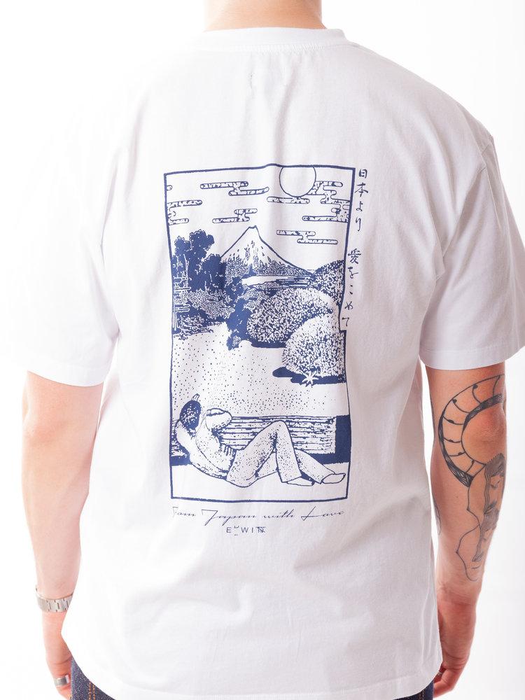 Edwin Jeans Edwin Jeans Fuji Scenery Tee White