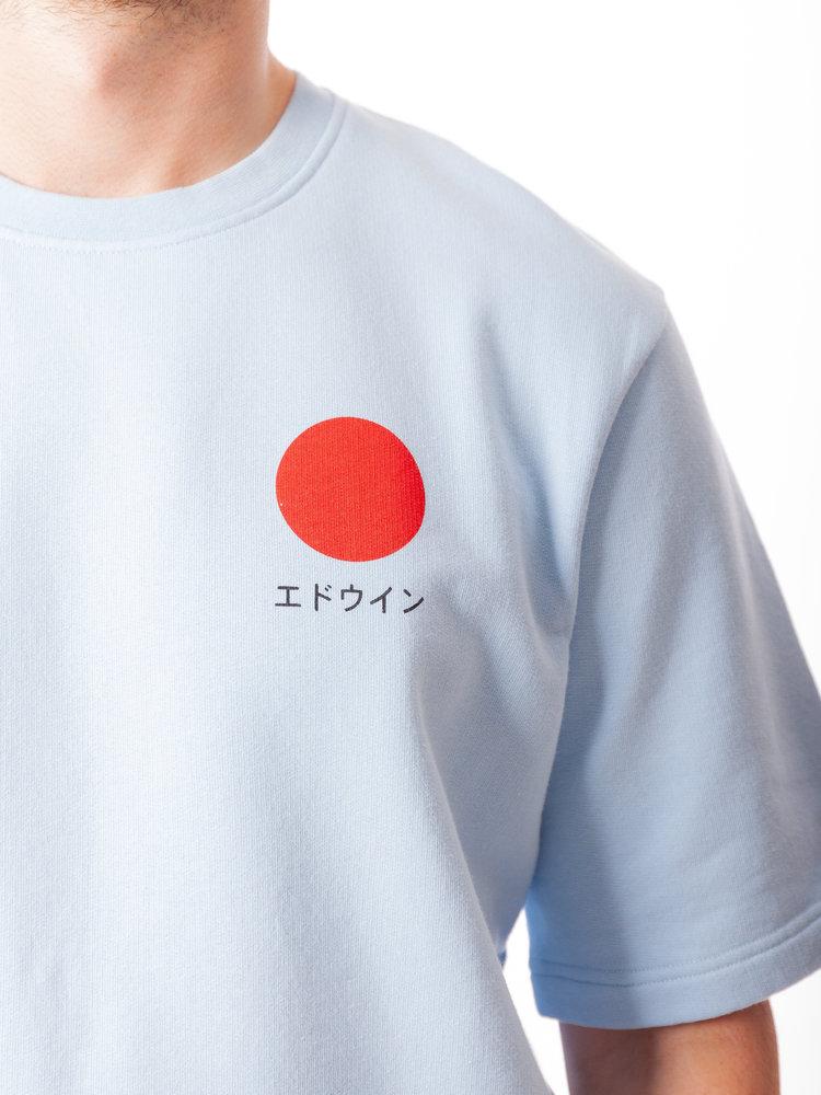 Edwin Jeans Japanese Sun Sweat Tee Cerulean