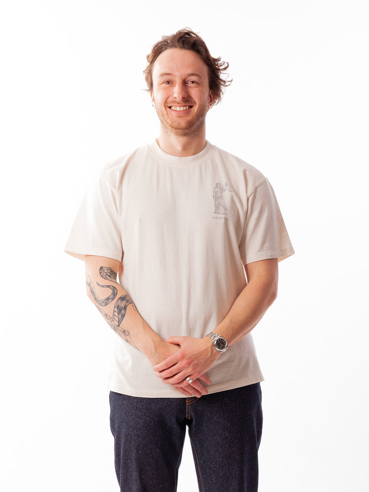 Edwin Jeans Upcoming Prophecy Tee Whisper White