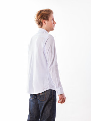 Dstrezzed Shirt Melange Pique Light Blue