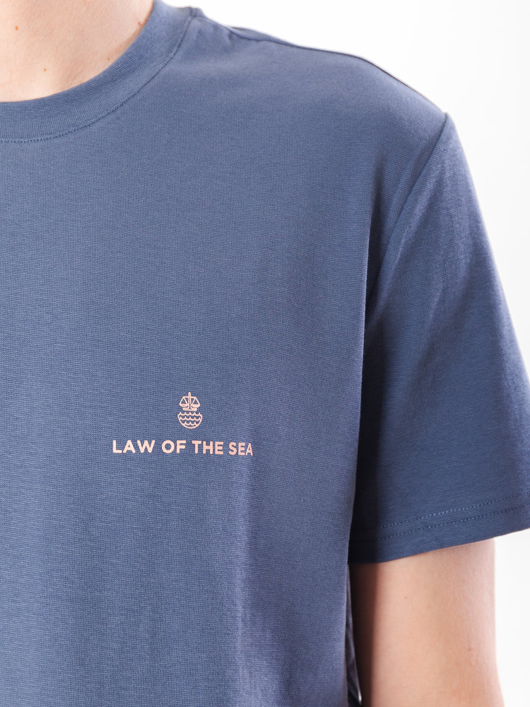 Law Of The Sea Veins Seal Blue