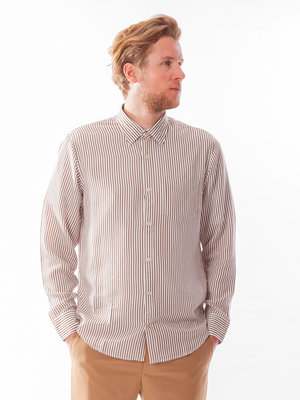 NN07 NN07 Errico Shirt Brown Stripe