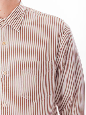 NN07 Errico Shirt Brown Stripe