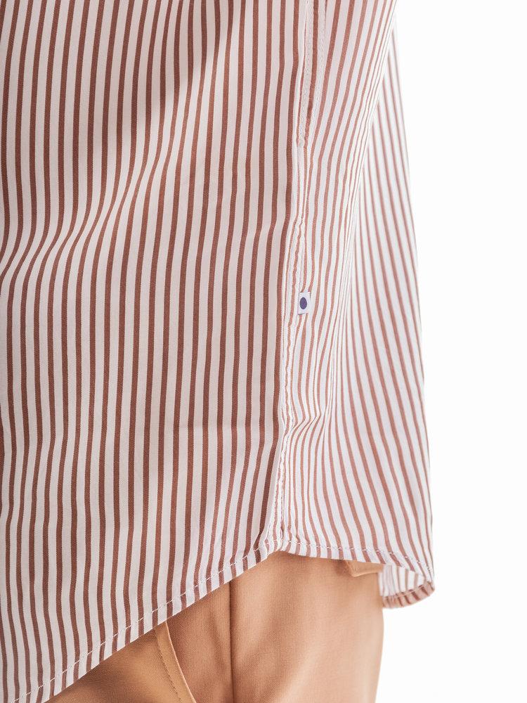 NN07 NN07 Errico Shirt Brown Stripe