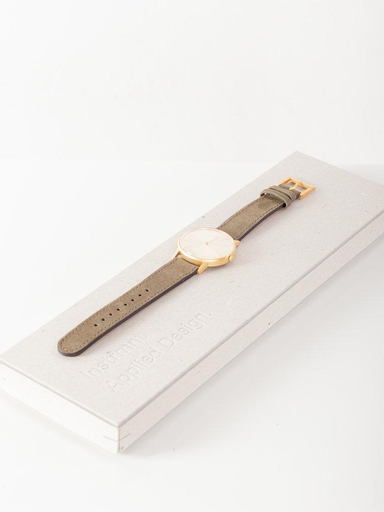 INSTRMNT Dress Watch 36mm Gold/Green