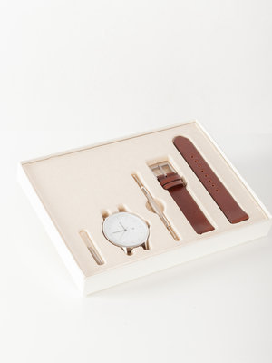 INSTRMNT INSTRMNT Everyday 40mm Silver/Brown