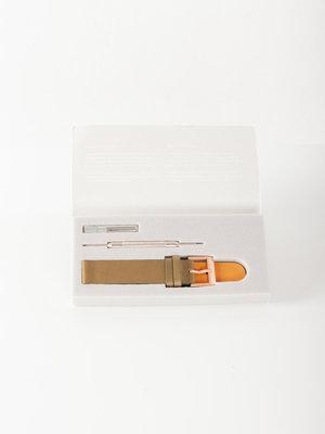 INSTRMNT Leather Strap Olive/Rose Gold