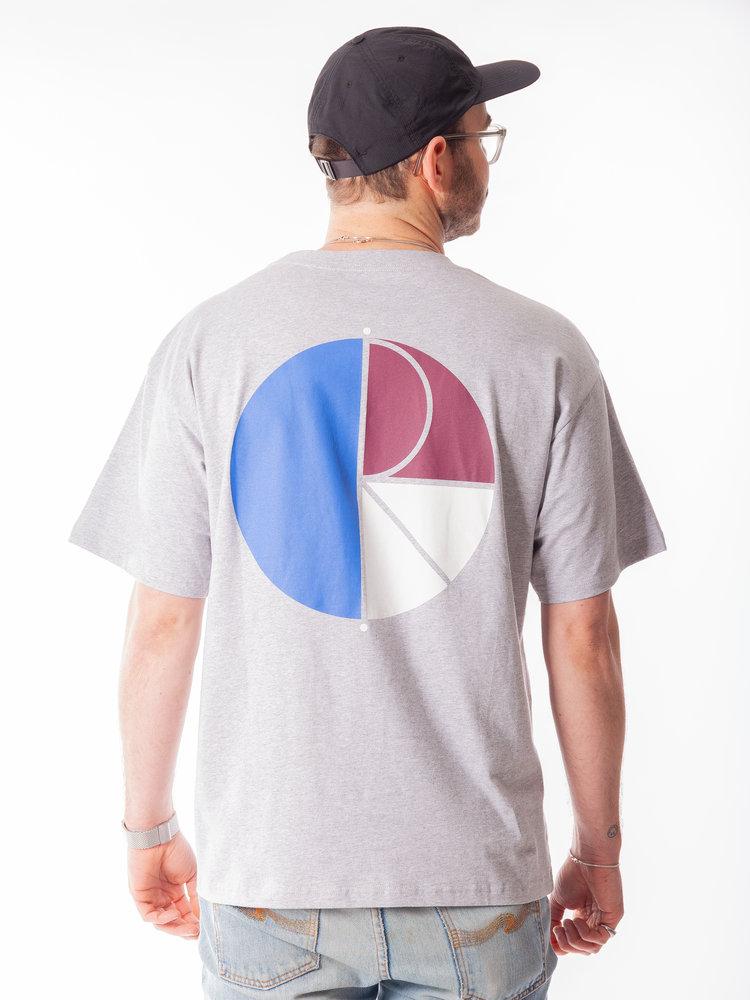 Polar Skate Co. Polar Skate Co. 3 Tone Fill Logo Tee Sport Grey