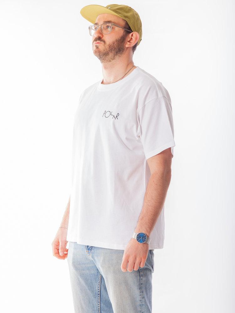 Polar Skate Co. Notre Dame Fill Logo Tee White