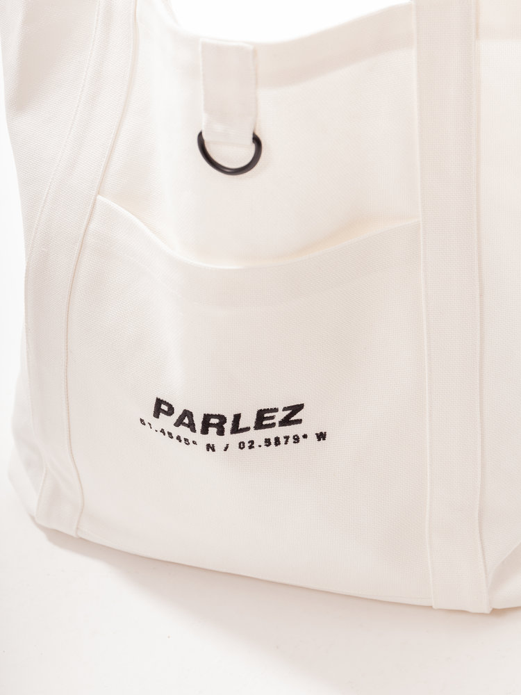 PARLEZ Cutter Tote Bag Ecru