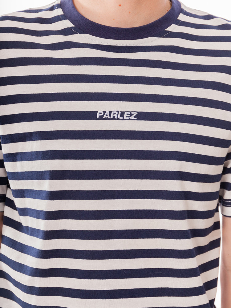 PARLEZ Ladsun Heavy Stripe Tee Navy