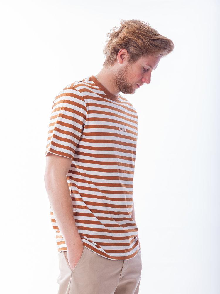 PARLEZ Ladsun Heavy Stripe Tee Brown