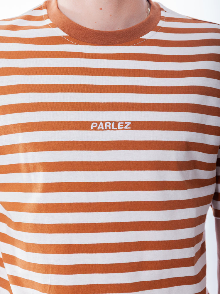 PARLEZ PARLEZ Ladsun Heavy Stripe Tee Brown