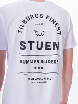 STUEN.Label STUEN.Label Summer Slider Tee White