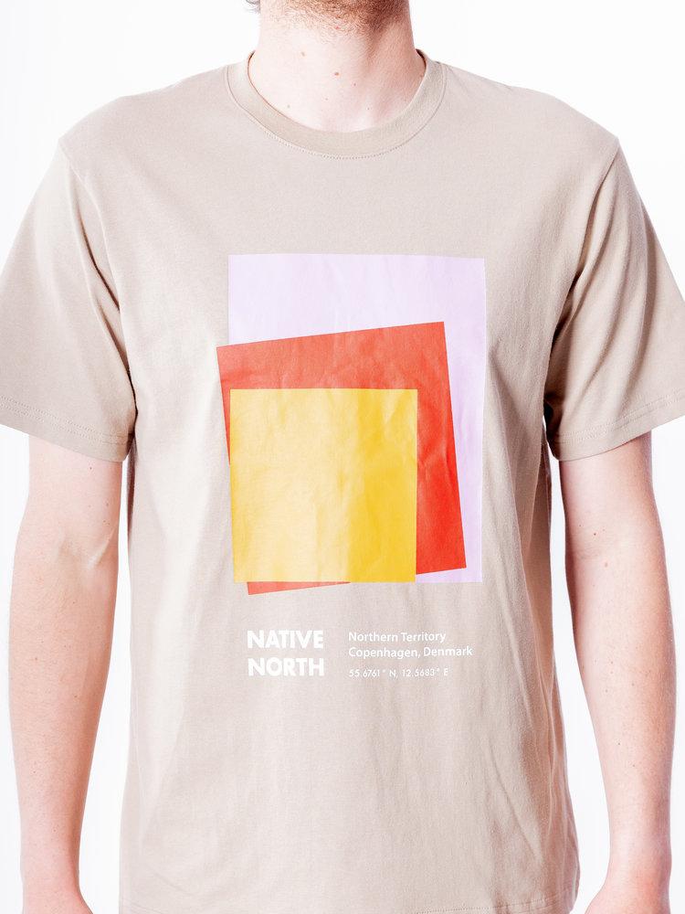 Native North Art Print Tee Sand