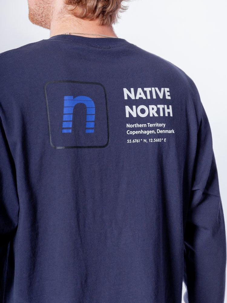 Native North LS Track Tee Navy