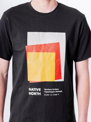 Native North Art Print Tee Black