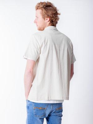 Native North Seersucker Shirt Beige
