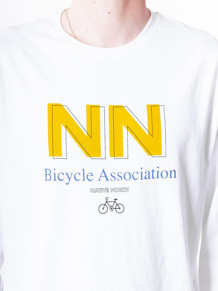 Native North LS Bicycle Tee White
