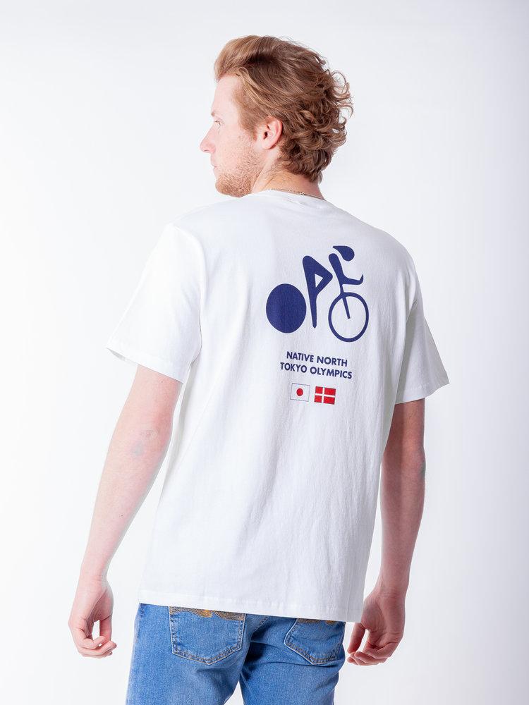 Native North Olympic Bike Tee White