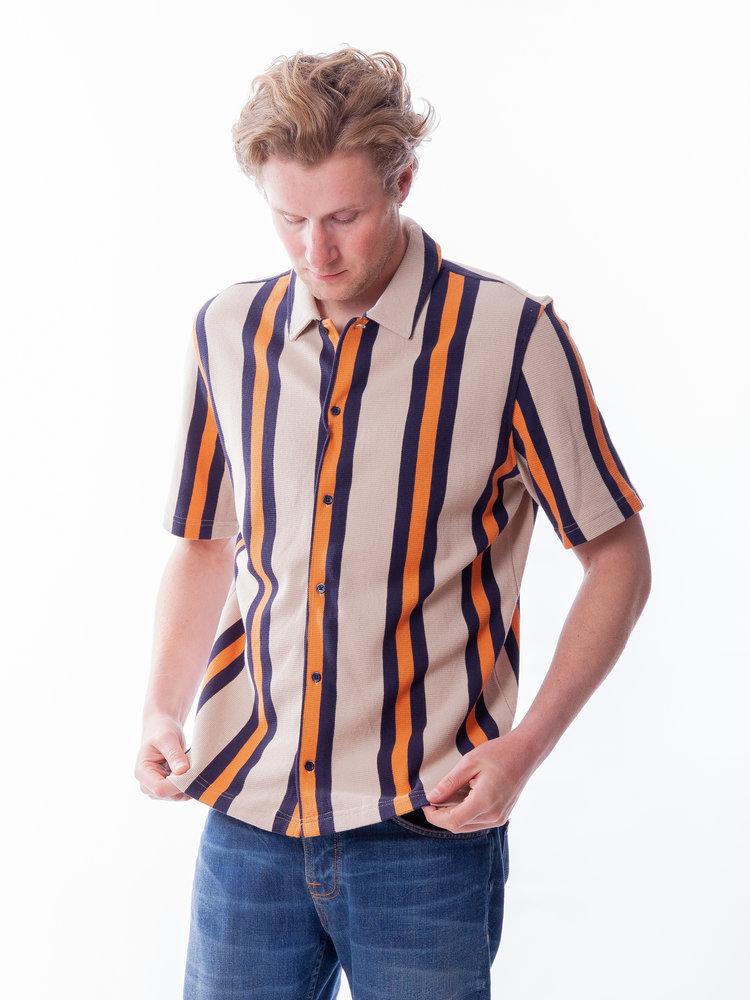 Samsøe Samsøe Samsøe Samsøe Kvistbro Shirt Spripe Golden Ochre