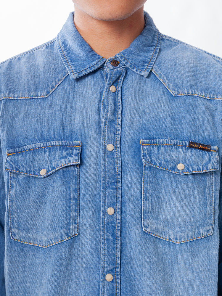 Nudie Jeans George Blue Tribe Denim