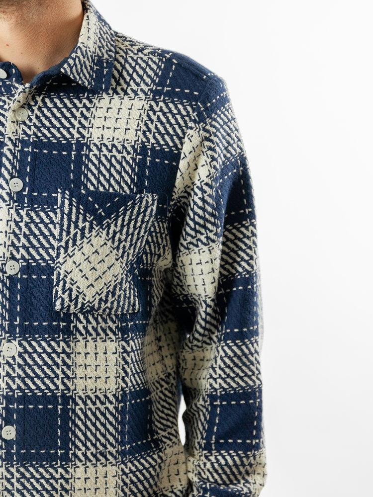 Wax London Whiting Overshirt Marine Beatink