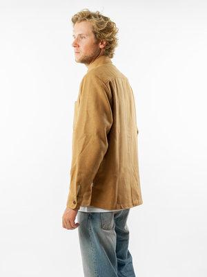 Wax London Whiting Overshirt Melton Wool Camel