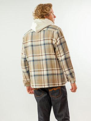 Wax London Whiting Overshirt Natural Check
