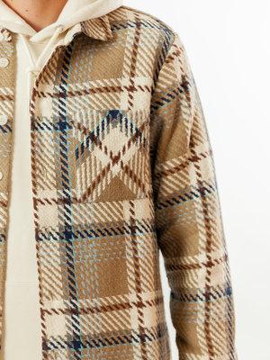 Wax London Wax London Whiting Overshirt Natural Check