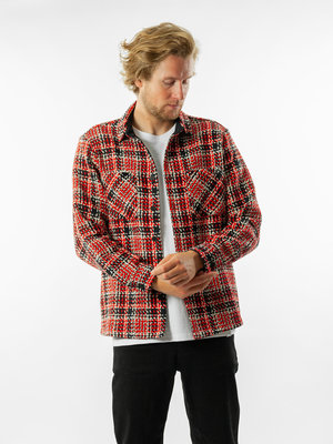 Wax London Whiting Overshirt Lumberjack Black/Red