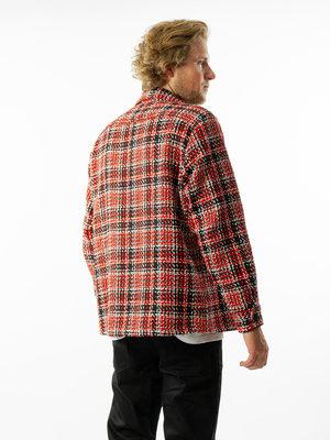 Wax London Wax London Whiting Overshirt Lumberjack Black/Red