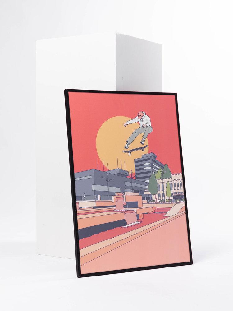 STUEN.Label STUNE.TheLabel Town hall Print