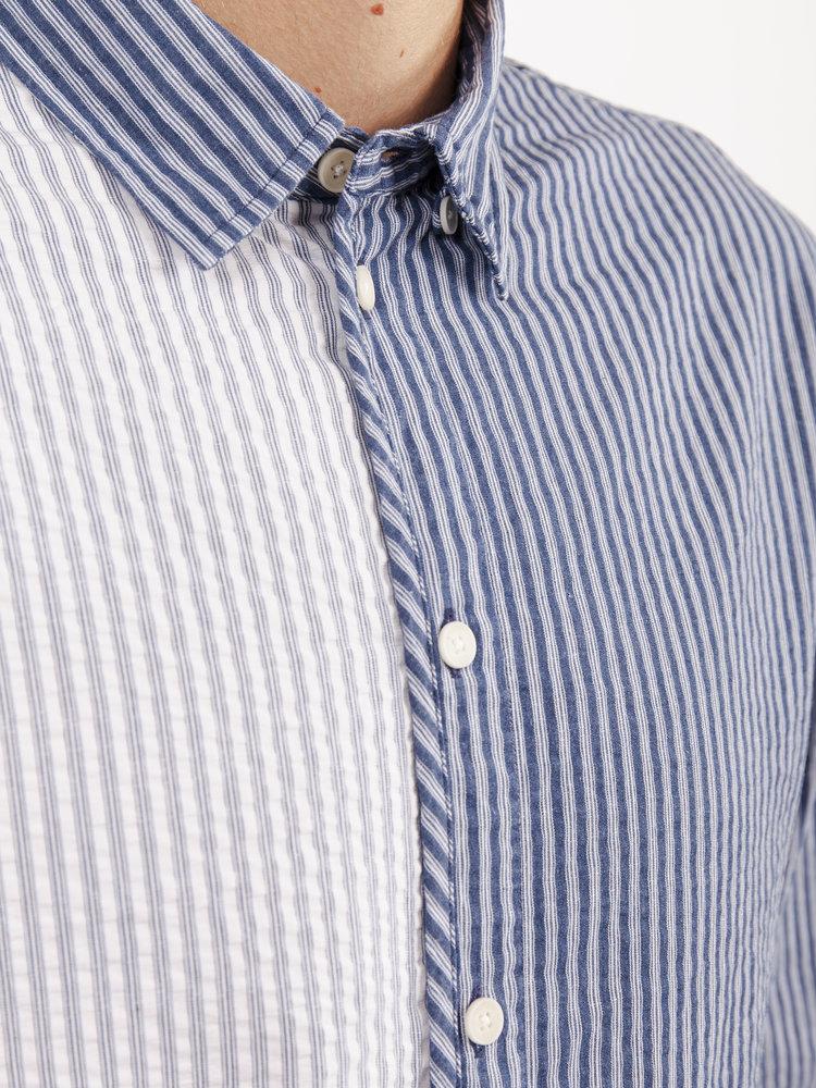 Wax London Wax London Kramer Shirt Baseball Stripe