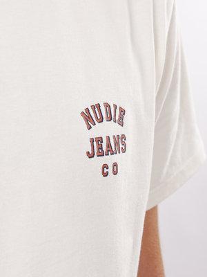 Nudie Jeans Roy Logo Tee Offwhite