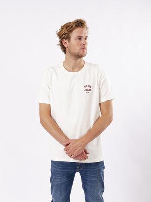Nudie Jeans Nudie Jeans Roy Logo Tee Offwhite