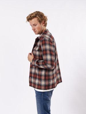 Nudie Jeans Nudie Jeans Sten Shadow Check Wool Poppy Red