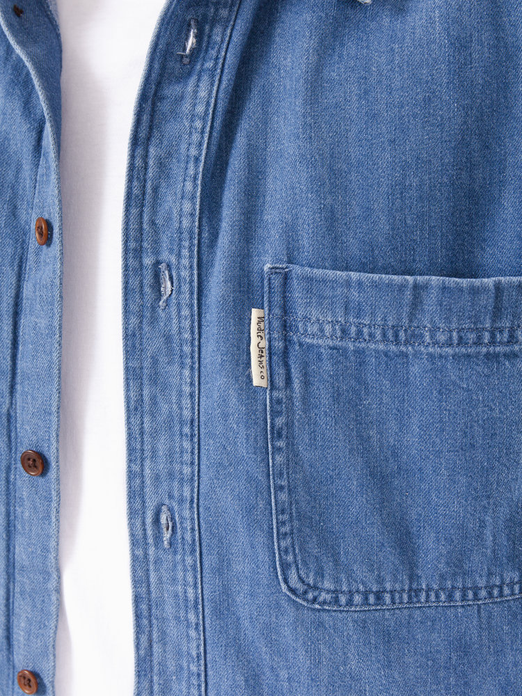 Nudie Jeans Hebbe Humble Blue Denim