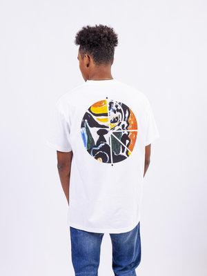 Polar Skate Co. Facescape Fill Logo Tee White