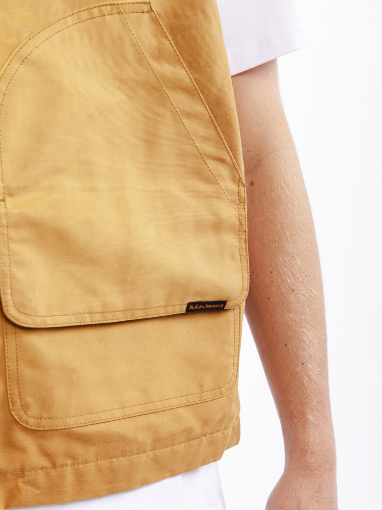 Nudie Jeans Douglas Duck Vest Ochre