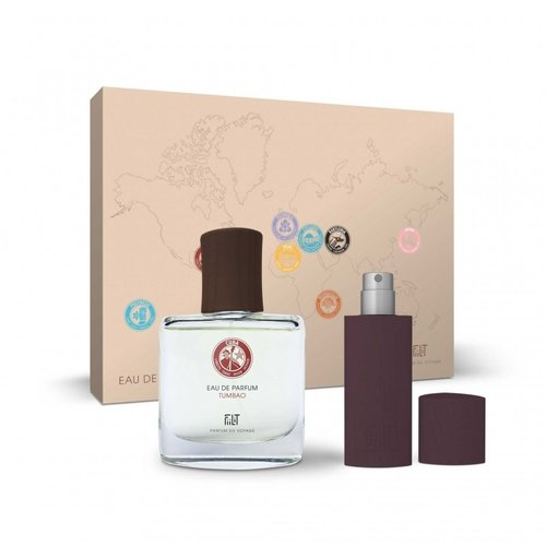 Fiilit Parfum Tumbao - Cuba - Gift Box (Spray 50ml+WoodenCase Spray 11ml) - Houtachtig, levendig, kruidig