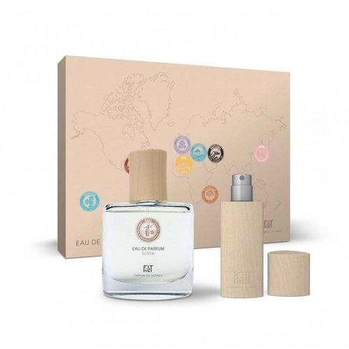 Fiilit Parfum Surya - Bali - Gift Box (Spray 50ml+WoodenCase Spray 11ml) - Zonnig, exotische bloemen