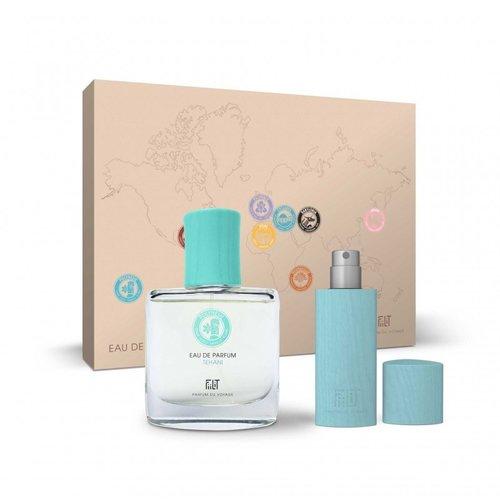 Fiilit Parfum Tehani - Polynesie - Gift Box (Spray 50ml+WoodenCase Spray 11ml) - Kokos, tiare-bloem, strand