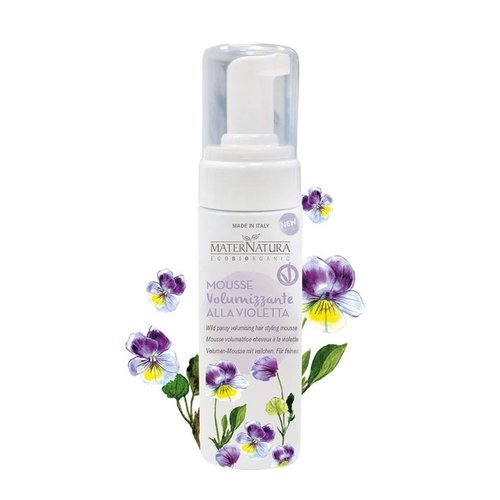 MaterNatura Haarstyling Volume Mousse (Wild Pansy)