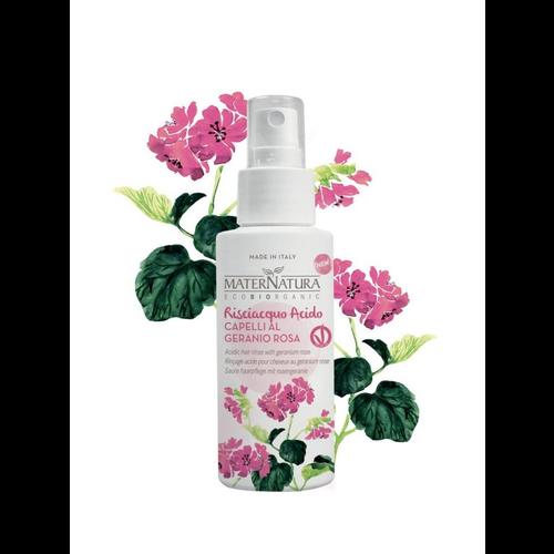 MaterNatura Haarspoeling - Acidic (Geranium Rose)