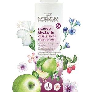 MaterNatura Shampoo - Krullend Haar (Groene Appel & Kokos)
