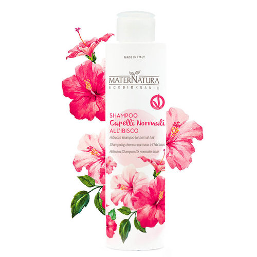 MaterNatura Shampoo - Normaal Haar (Hibiscus)