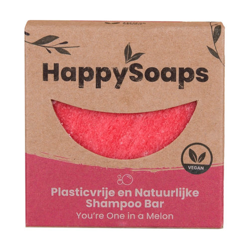 HappySoaps Shampoo Bar - You're One in a Melon (Krullend Haar)