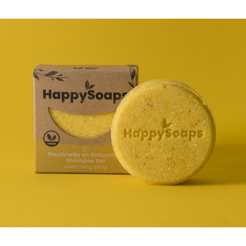 HappySoaps Shampoo Bar - Exotic YlangYlang (Alle Haartypes)