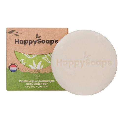 HappySoaps Body Lotion Bar - Aloe You Vera Much